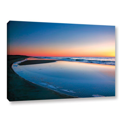 Brushstone Sea and Sand II Gallery Wrapped CanvasWall Art