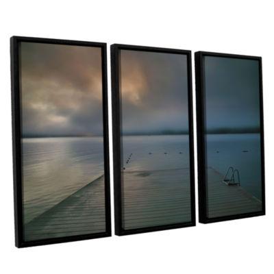 Brushstone Solitude I 3-pc. Floater Framed CanvasWall Art