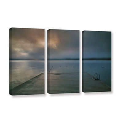 Brushstone Solitude I 3-pc. Gallery Wrapped CanvasWall Art