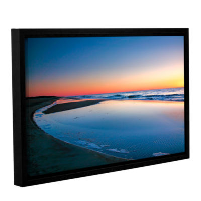Brushstone Sea and Sand II Gallery Wrapped Floater-Framed Canvas Wall Art
