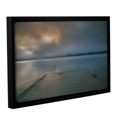 Brushstone Solitude I Gallery Wrapped Floater-Framed Canvas Wall Art