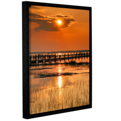 Brushstone Sunset Bay Gallery Wrapped Floater-Framed Canvas Wall Art
