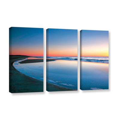 Brushstone Sea and Surf 3-pc. Gallery Wrapped Canvas Wall Art