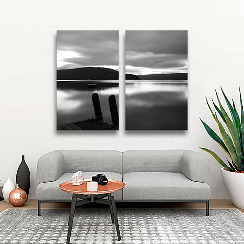Brushstone Still Waters 2-pc. Gallery Wrapped Canvas Wall Art