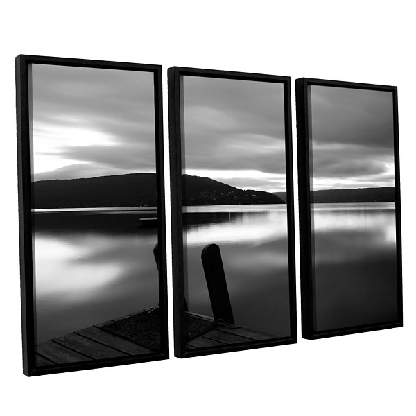 Brushstone Still Waters 3-pc. Floater Framed Canvas Wall Art
