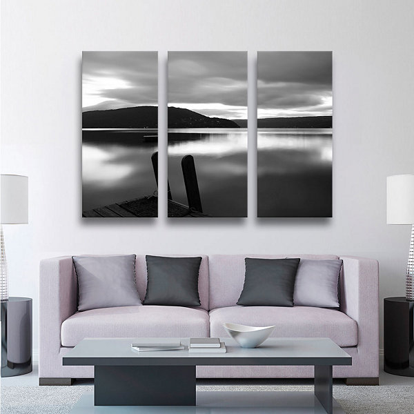 Brushstone Still Waters 3-pc. Gallery Wrapped Canvas Wall Art