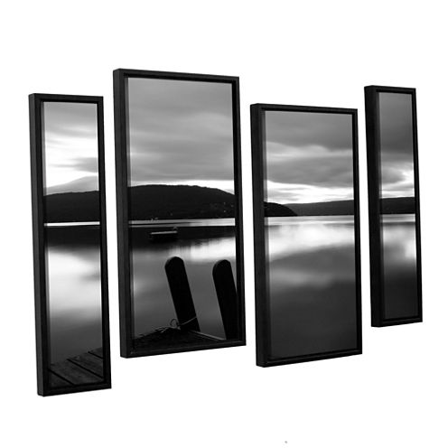 Brushstone Still Waters 4-pc. Floater Framed Staggered Canvas Wall Art