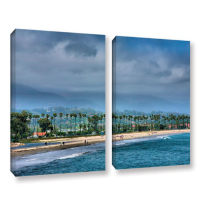 Brushstone The Beach at Santa Barbara 2-pc. Gallery Wrapped Canvas Wall Art