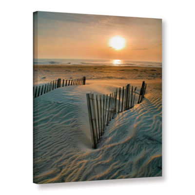Brushstone Sunrise Over Hatteras Gallery Wrapped Canvas Wall Art