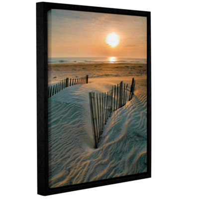 Brushstone Sunrise Over Hatteras Gallery Wrapped Floater-Framed Canvas Wall Art