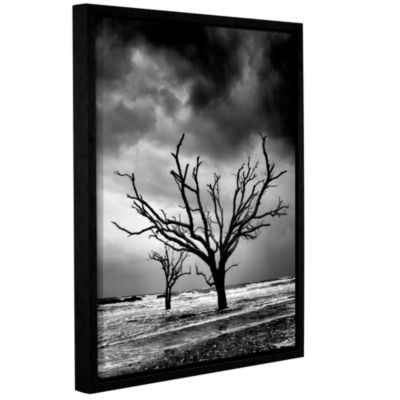 Brushstone Stormy Monday Gallery Wrapped Floater-Framed Canvas Wall Art