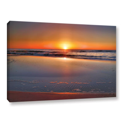Brushstone Sunrise Over Assateague Gallery Wrapped Canvas Wall Art