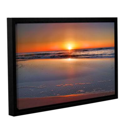 Brushstone Sunrise Over Assateague Gallery WrappedFloater-Framed Canvas Wall Art