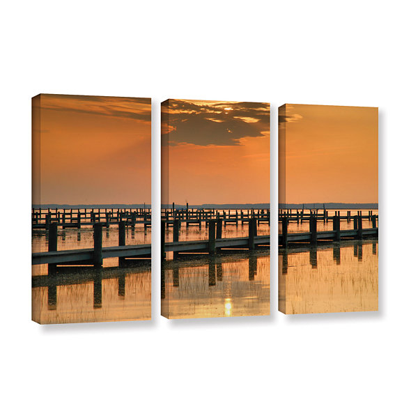 Brushstone Silver and Gold 3-pc. Gallery Wrapped Canvas Wall Art