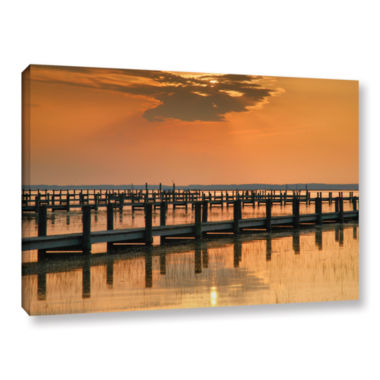 Brushstone Silver and Gold Gallery Wrapped CanvasWall Art