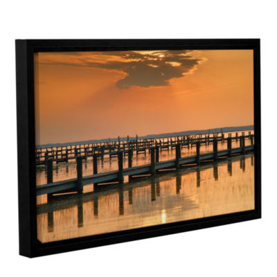 Brushstone Silver and Gold Gallery Wrapped Floater-Framed Canvas Wall Art