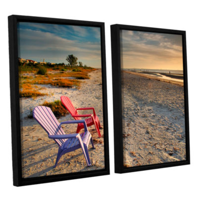 Brushstone Sitting Pretty 2-pc. Floater Framed Canvas Wall Art