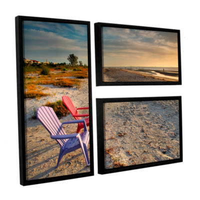 Brushstone Sitting Pretty 3-pc. Flag Floater Framed Canvas Wall Art