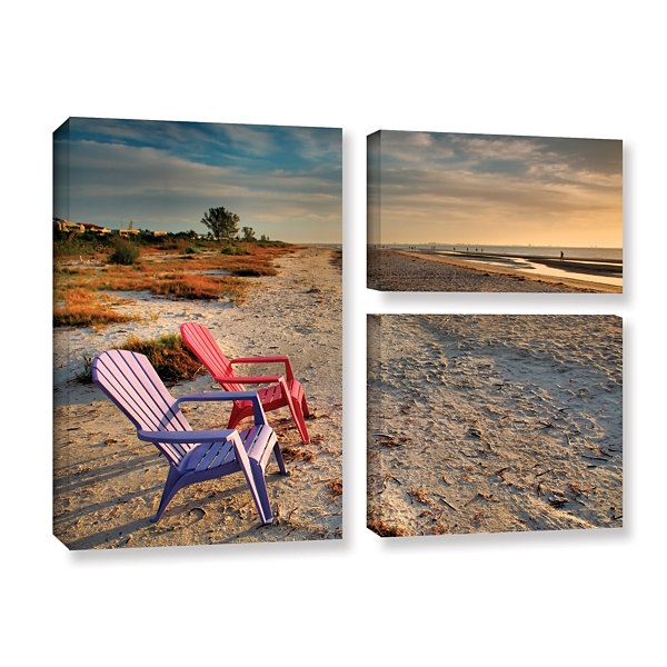 Brushstone Sitting Pretty 3-pc. Flag Gallery Wrapped Canvas Wall Art