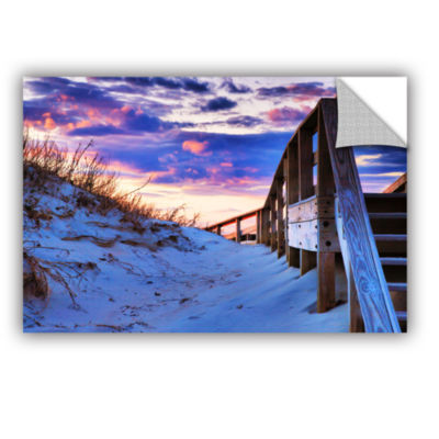 Brushstone Sunset at Ocracoke Removable Wall Decal