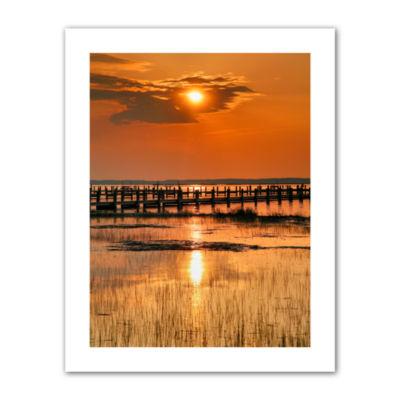 Brushstone Sunset Bay Canvas Poster Wall Art