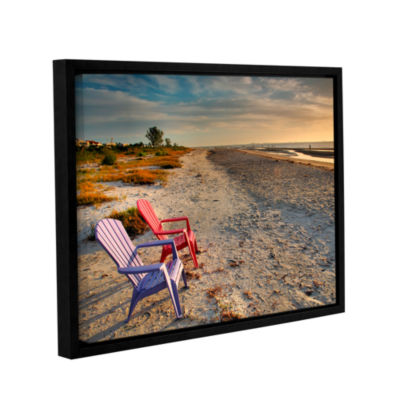 Brushstone Sitting Pretty Gallery Wrapped Floater-Framed Canvas Wall Art