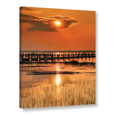 Brushstone Sunset Bay Gallery Wrapped Canvas WallArt