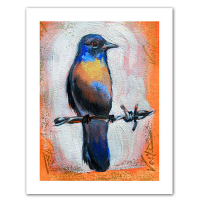 Brushstone Bird on a Wire Canvas Wall Art