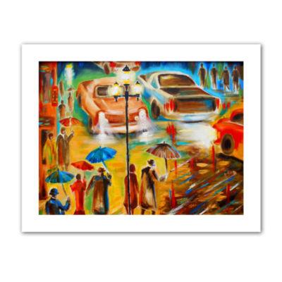 Brushstone In Italy Even Rain is Beautiful CanvasWall Art