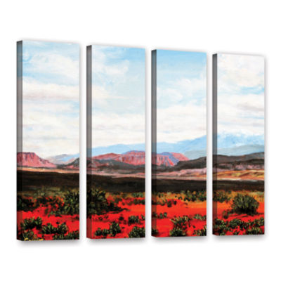 Brushstone Joyride 4-pc. Gallery Wrapped Canvas Wall Art