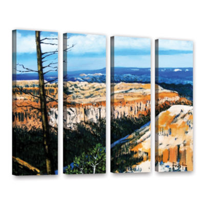 Brushstone Mountain Tops Blue Sky 4-pc. Gallery Wrapped Canvas Wall Art