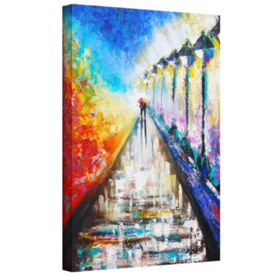 Brushstone Paris Sweethearts Gallery Wrapped Canvas Wall Art