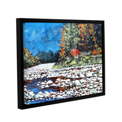 Brushstone Pebble Creek Gallery Wrapped Framed Canvas Wall Art