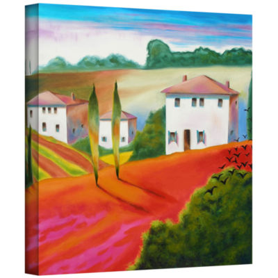 Brushstone Provence Moonrise 2 Gallery Wrapped Canvas Wall Art