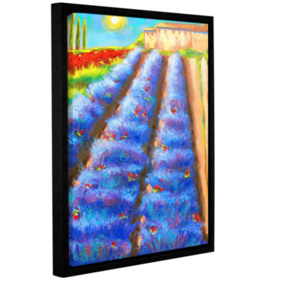 Brushstone Provence Rows Gallery Wrapped Floater-Framed Canvas