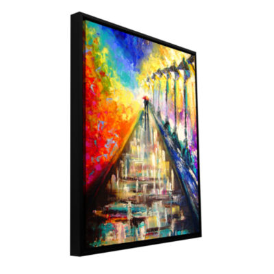 Brushstone Rainy Paris Evening Gallery Wrapped Framed Canvas Wall Art