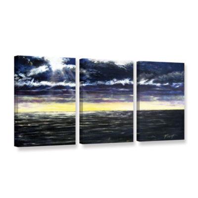 Brushstone Ravage Sea 3-pc. Gallery Wrapped CanvasWall Art
