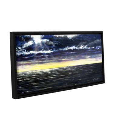 Brushstone Ravage Sea Gallery Wrapped Framed Canvas Wall Art