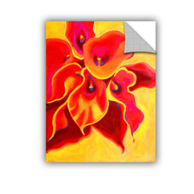 Brushstone Red Calla Shadow Removable Wall Decal
