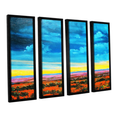 Brushstone Riders on the Storm 4-pc. Floater Framed Canvas Wall Art
