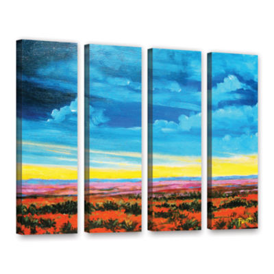 Brushstone Riders on the Storm 4-pc. Gallery Wrapped Canvas Wall Art