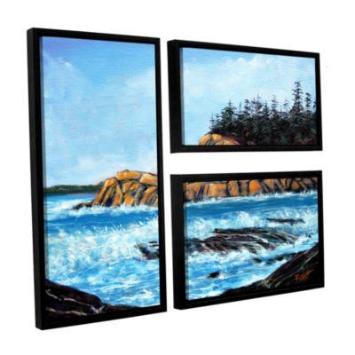 Brushstone Roll Tide 3-pc. Floater Framed Canvas Wall Art
