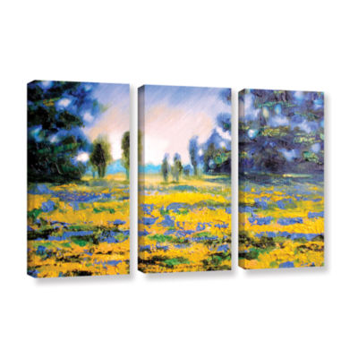 Brushstone Sea of Butter 3-pc. Gallery Wrapped Canvas Set