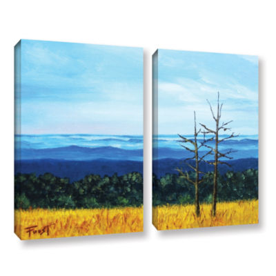 Brushstone Serene Mountain Tops 2-pc. Gallery Wrapped Canvas Wall Art