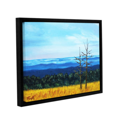 Brushstone Serene Mountain Tops Gallery Wrapped Framed Canvas Wall Art