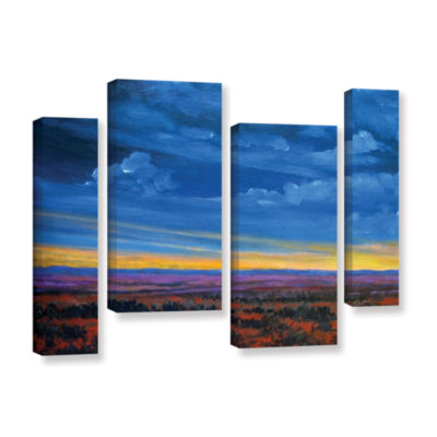 Brushstone Shadow moses 4-pc. Gallery Wrapped Staggered Canvas Wall Art