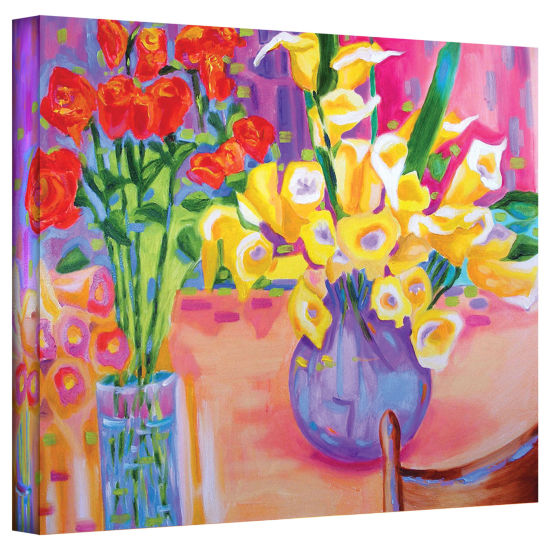 Brushstone Summer Flowers Gallery Wrapped Canvas Wall Art