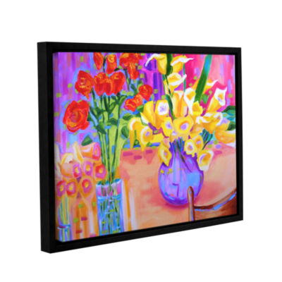 Brushstone Summer Flowers Gallery Wrapped Framed Canvas Wall Art