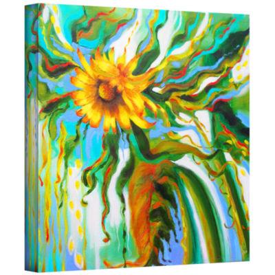 Brushstone Sunflower Melting Gallery Wrapped Canvas Wall Art