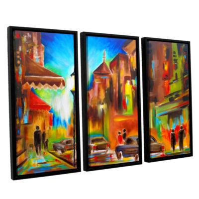 Brushstone Twilight in Treviso 3-pc. Floater Framed Canvas Wall Art